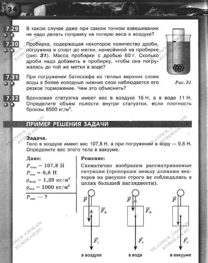 Гдз по физике 7 класс задачник артеменков ломаченков панебратцев