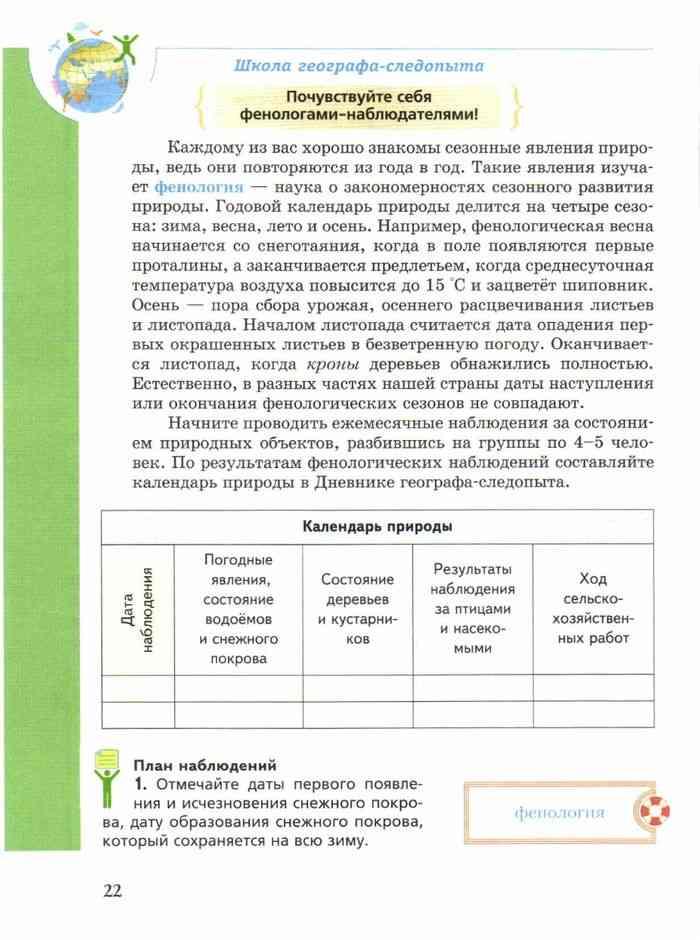Учебник география 5 класс начальный курс летягин читать онлайн.