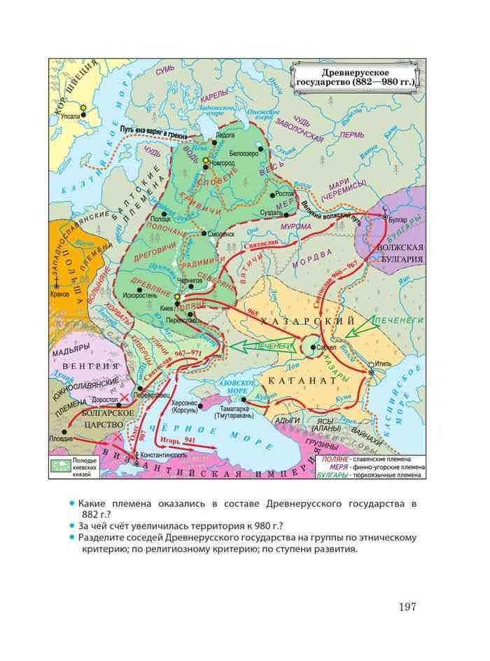 Образование древнерусского государства картинки на карте