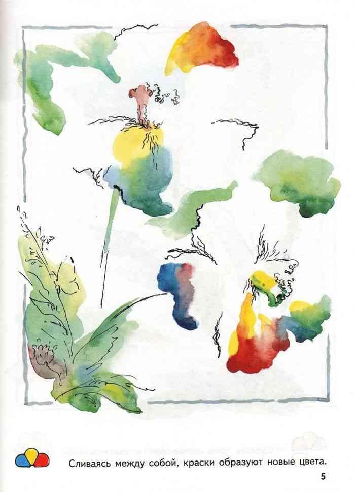 Урок рисования для детей 4 года