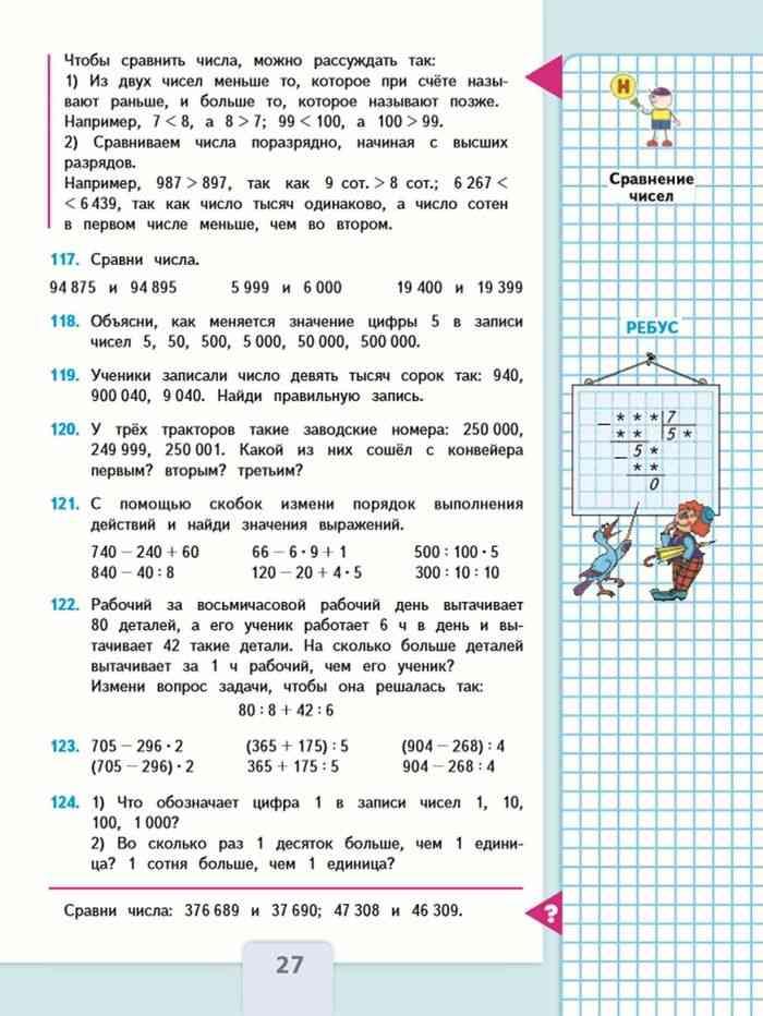 Учебник перспектива математика 4 класс решение задач комбинаторные задачи и способы их решения